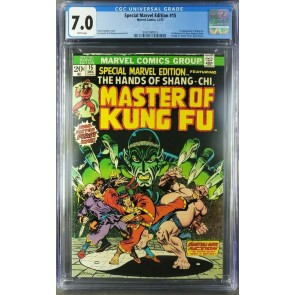 Special Marvel Edition 15 (1973) CGC 7.0 FVF WP 1st Shang-Chi Master of Kung Fu|