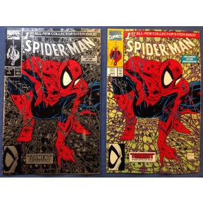 Spider-Man (1990) #1 NM signed by McFarlane silver & purple covers both w/coa