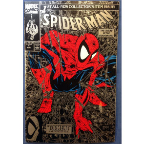Spider-Man (1990) #1 (9.4) signed by McFarlane silver & purple covers both w/coa