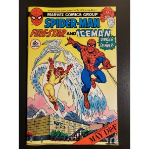 SPIDER-MAN FIRE-STAR AND ICEMAN #1 DENVER POST MAY D&F MARVEL NM-/NM RARE |