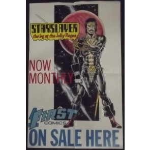 STAR SLAYER 1983 PROMOTIONAL POSTER FIRST COMICS