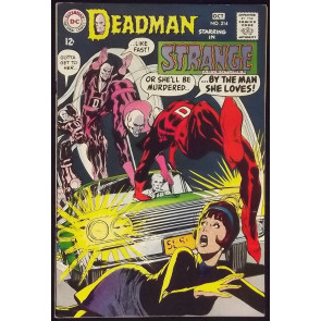 STRANGE ADVENTURES #214 VF- NEAL ADAMS DEADMAN