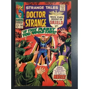STRANGE TALES #160 (1967) VG (4.0) Nick Fury and Captain America Steranko Art|