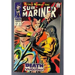 Sub-Mariner (1968) #6 VF- (7.5) Tiger Shark Battle John Buscema Cover & Art