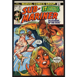 Sub-Mariner (1968) #58 VF+ (8.5) Bill Everett Story + Art