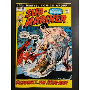 Sub-mariner #46 (1972) VF+ (8.5) High grade Sting-Ray Picture box cover |