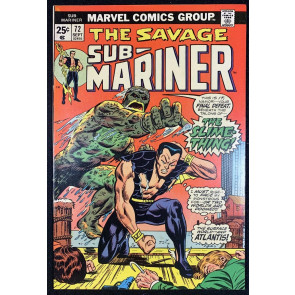 Sub-Mariner (1968) #72 FN (6.0) Final Issue