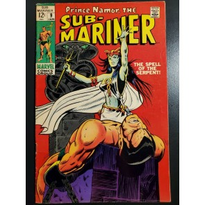 SUB-MARINER #9 (1969) VG+ (4.5) 1ST APPEARANCE OF THE SERPENT CROWN |