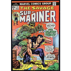 Sub-Mariner (1968) #72 FN+ (6.5) Final Issue