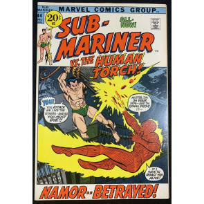 Sub-Mariner (1968) #44 VF+ (8.5) VS Human Torch, Picture Frame Cover