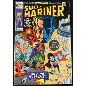 Sub-Mariner (1968) #37 FN/VF (7.5) Death  of Lady Dorma