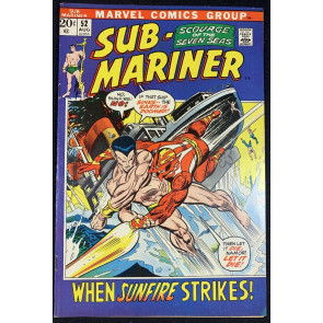 Sub-Mariner (1968) #52 VF- (7.5) VS Sunfire Picture Frame Cover Bill Everett