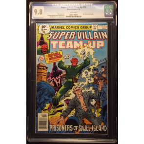 SUPER-VILLAIN TEAM-UP (1975) #16 CGC GRADED 9.8 WHITE PAGE HATE MONGER RED SKULL