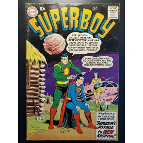 Superboy #74 1959 VG/F (5.0) Jor-El & Lara Return! 1ST APP New Krypton |