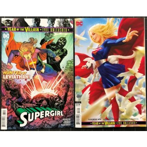 Supergirl (2016) #34 NM (9.4) regular & variant cover set