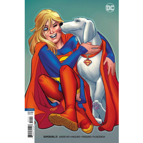 Supergirl (2016) #21 VF/NM Amanda Conner Krypto Variant Cover DC Universe