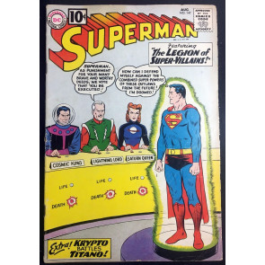 Superman (1939) #147 VG- (3.5) 1st app Legion of Super-Villains 7th app Legion