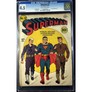 Superman (1939) #12 CGC 4.5 Lex Luthor appearamce (1104193001)