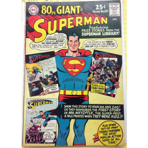 Superman (1939) #183 FN+ (6.5) 80 page Giant (G-18)