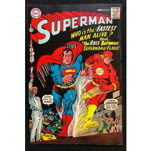 Superman (1939 #199 FN (6.0) 1st Superman Flash Race