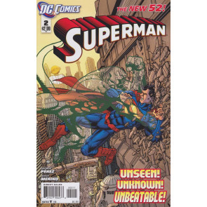 Superman (2011) #2 VF/NM 1st Printing The New 52!