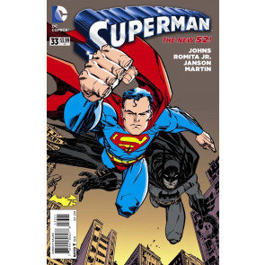 SUPERMAN #33 VF/NM BATMAN 75TH ANN ERIK LARSEN VARIANT COVER THE NEW 52!