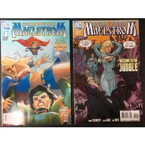 Superman Supergirl Maelstrom (2009) 1 2 3 4 5 complete set VF+ (8.5)