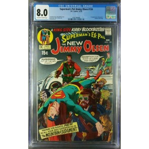 Superman's Pal Jimmy Olsen #134 (1970) 1st App. of Darkseid CGC 8.0 OW/W VF |