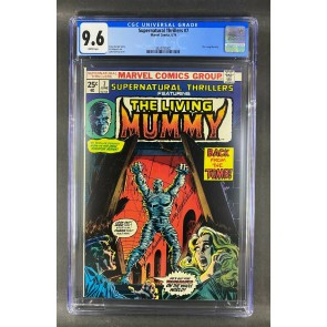 Supernatural Thrillers (1972) #7 CGC Graded 9.6 The Living Mummy (3824797001)