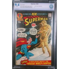 SUPERMAN #238 CBCS GRADED 9.4 WHITE PAGES SAND CREATURE APP