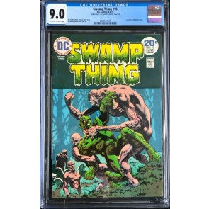 Swamp Thing (1972) #10 CGC (9.0) double cover 2nd cover (8.5) (2069187021)