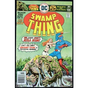 Swamp Thing (1972) #23 FN- (5.5) Swamp Thing Reverts Back to Dr. Holland pt 1