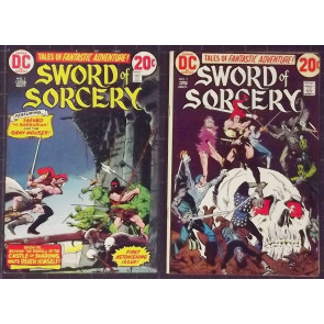 SWORD OF SORCERY (1973) #'s 1, 2, 3, 4, 5 COMPLETE SET WRIGHTSON CHAYKIN