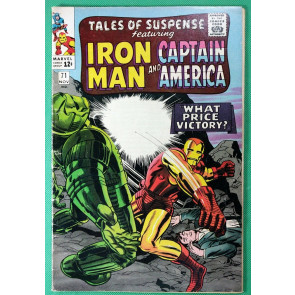 Tales of Suspense (1959) #71 VG/FN (5.0) Iron Man Captain America Double Feature