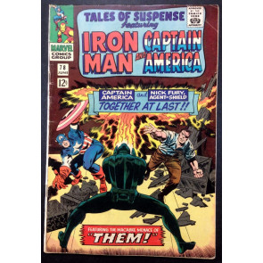 Tales of Suspense (1959) #78 VG/FN (5.0) Iron Man Captain America double feature