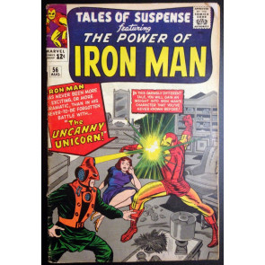 Tales of Suspense (1959) #56 VG+ (4.5) Iron Man 1st app Unicorn