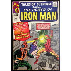 Tales of Suspense (1959) #56 VG+ (4.5) Iron Man 1st appearance Unicorn