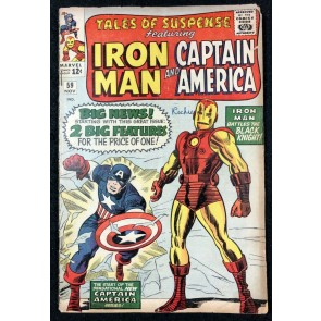 Tales of Suspense (1959) #59 GD+ 1st Jarvis Iron Man Cap double feature begins