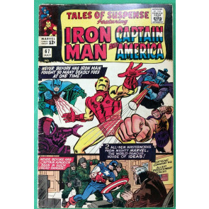 Tales of Suspense (1959) #67 VG/FN (5.0) Iron Man Captain America Double Feature
