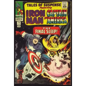TALES OF SUSPENSE #74 VF- IRON MAN CAPTAIN AMERICA