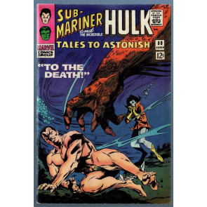 Tales To Astonish (1959) #80 FN (6.0) Sub-Mariner Hulk double feature