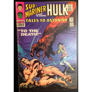 Tales To Astonish (1959) #80 FN+ (6.5) Sub-Mariner and Hulk double feature