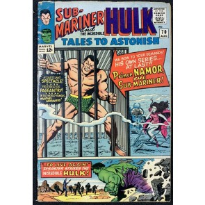 Tales To Astonish (1959) #70 GD/VG (3.0) Hulk Sub-Mariner double feature begins