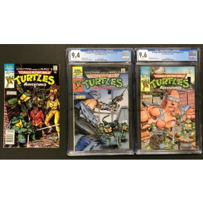 Teenage Mutant Turtles Adventures (1988) #1 2 3 complete set CGC 9.4 9.6 Archie