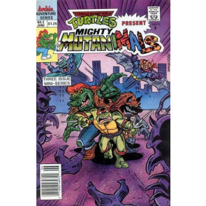 TEENAGE MUTANT NINJA TURTLES PRESENT MIGHTY MUTANIMALS (1991) #2 OF 3 VF+ -VF/NM
