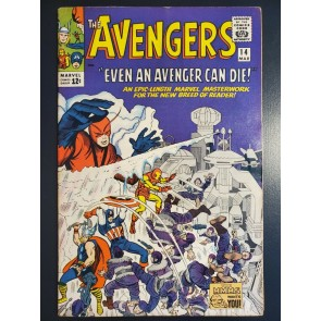 "The Avengers #14 (1965) F/VF (7.0) ""Even an Avenger can Die"" Silver Age 