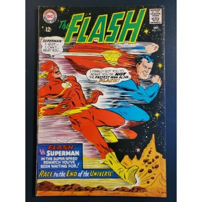 The Flash 175 (1967) Fine 6.0 Key 2nd Superman Flash Race Justice League App|