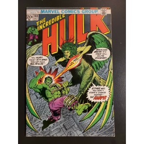 The Incredible Hulk #168 (1973) F+ 6.5 Modok/1st Appearance Harpy (Betsy Ross)|