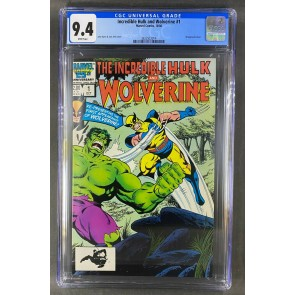 The Incredible Hulk and Wolverine (1986) #1 CGC 9.4 White Pages (3822923014)