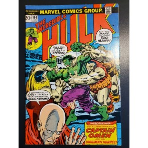 The Incredible Hulk #164 (1973) FN/VF (7.0) 1st app. Captain Omen Herb Trimpe |